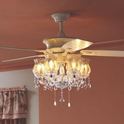Bedroom Ceiling Fans With Lights. Basement Bedroom  Ceiling fan with a chandelier Romantic Fan Chandy love Pinterest