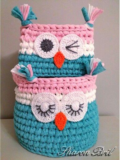 Crochet baskets | CROCHET | Pinterest | Adornos de ganchillo, Patrón ...