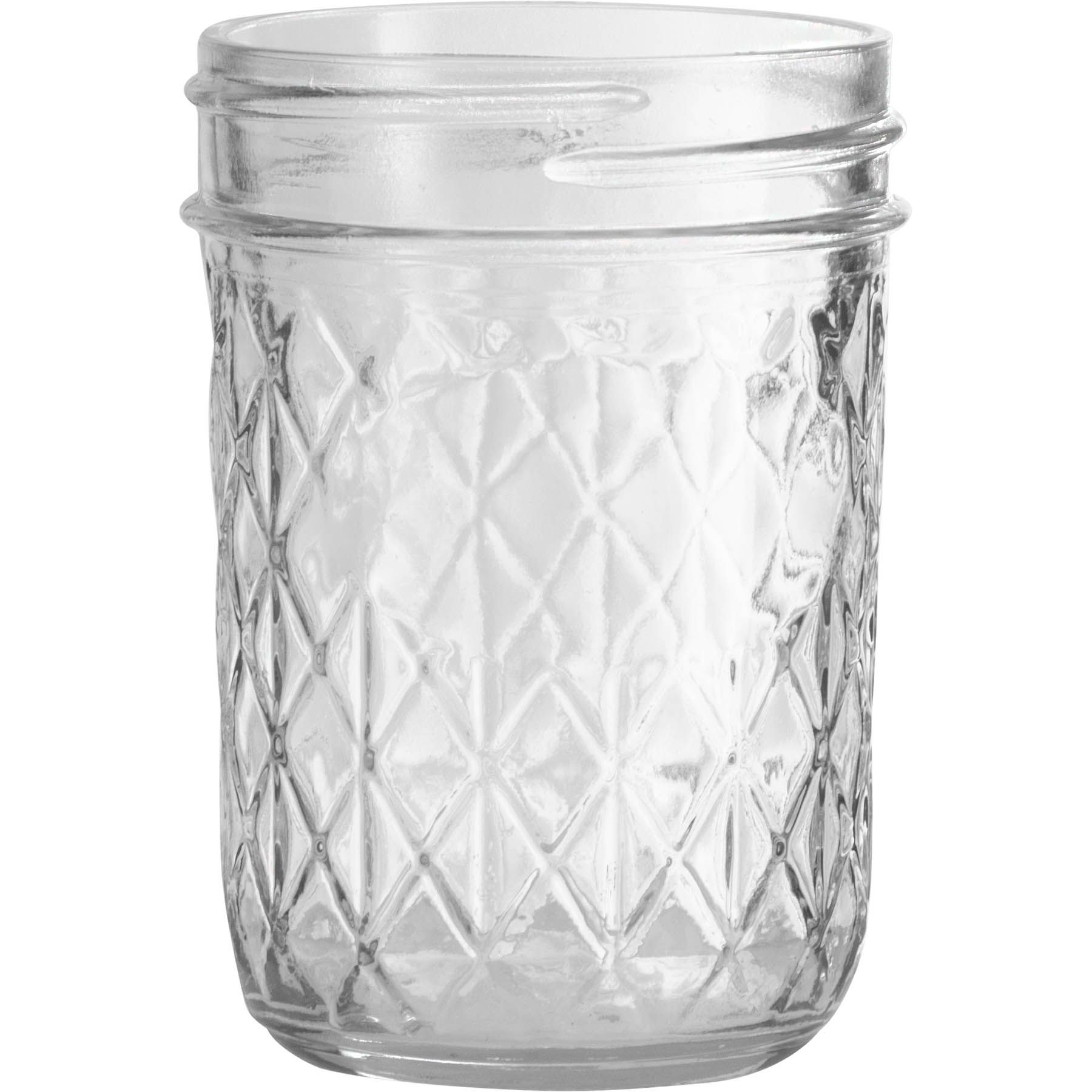 Ball 8 Oz Half Pint Quilted Crystal Jelly Jars No Lid Bulk