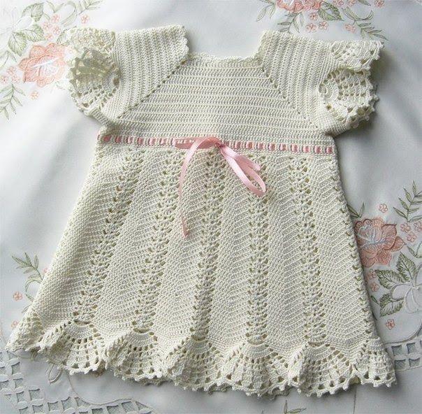 Delicadezas en crochet Gabriela: Vestido de bautizo 2 modelos ...