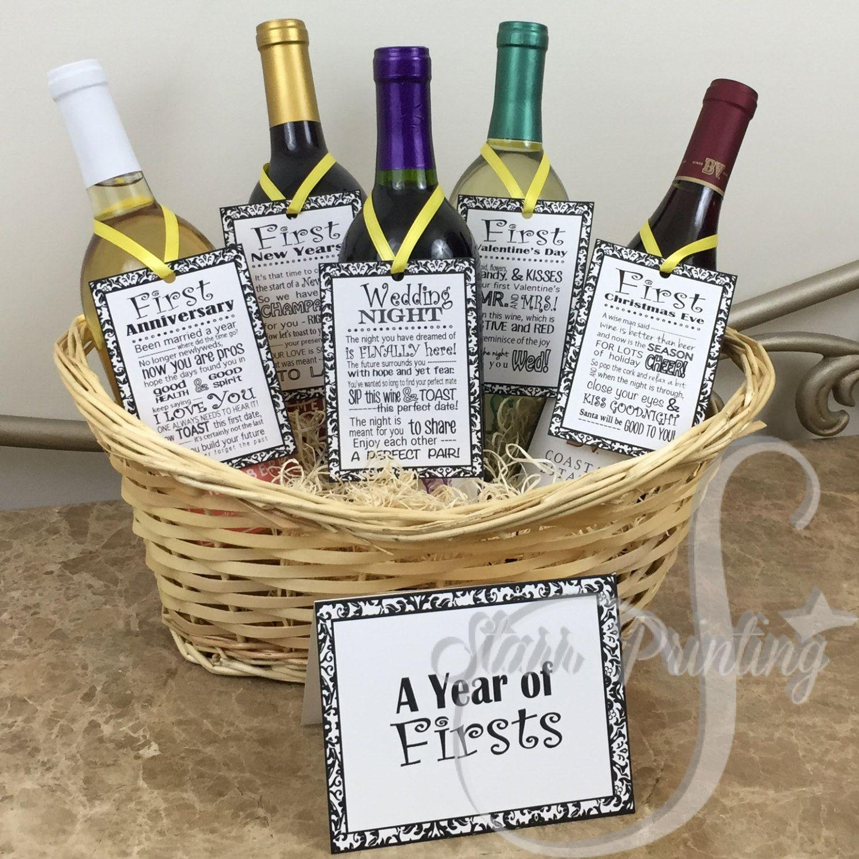 Sale set Bridal Shower Wine Basket Gift Set with by