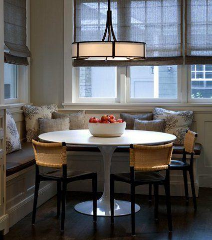 Banquetas en las esquinas: un comedor en la cocina | Banquetas ...
