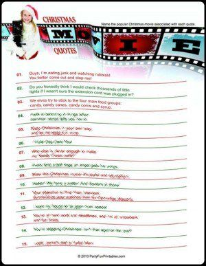 more printable christmas movie games name that christmas movie answers