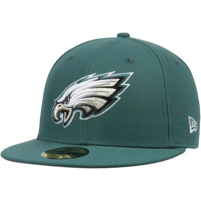 reputable site f56f9 12a42 Philadelphia Eagles New Era Omaha 59FIFTY Fitted Hat - Midnight Green