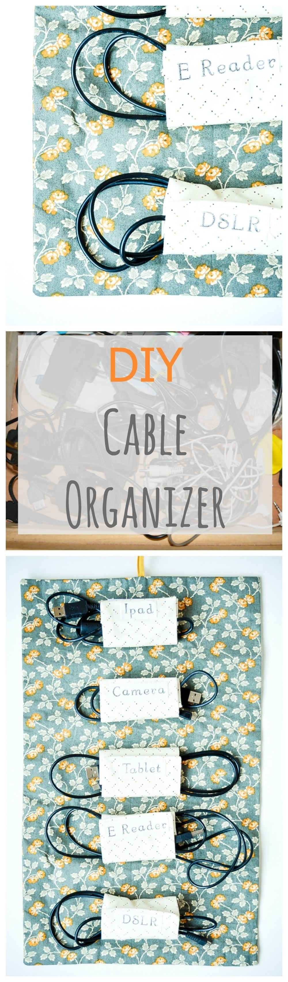 Fabric Cable Tidy, Cable Roll DIY | fieltro | Pinterest | Costura ...