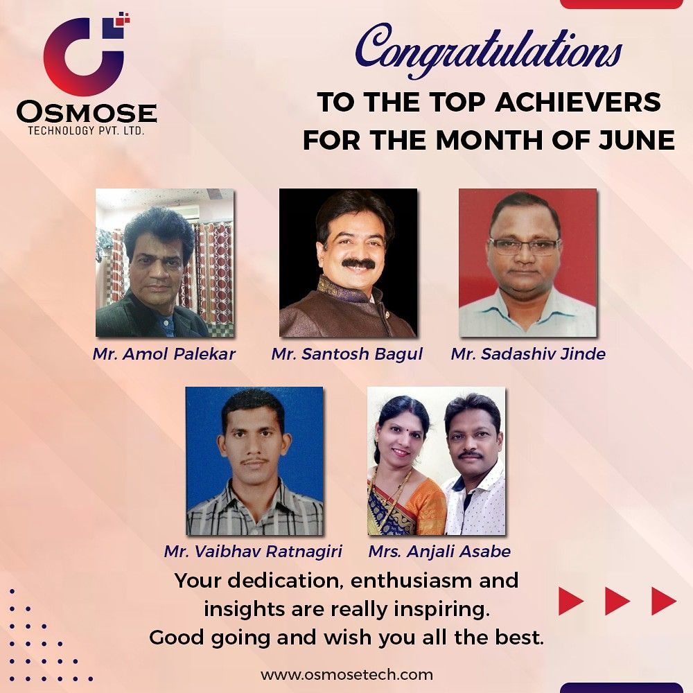 Pin by osmose technology on Top Achievers in 2020