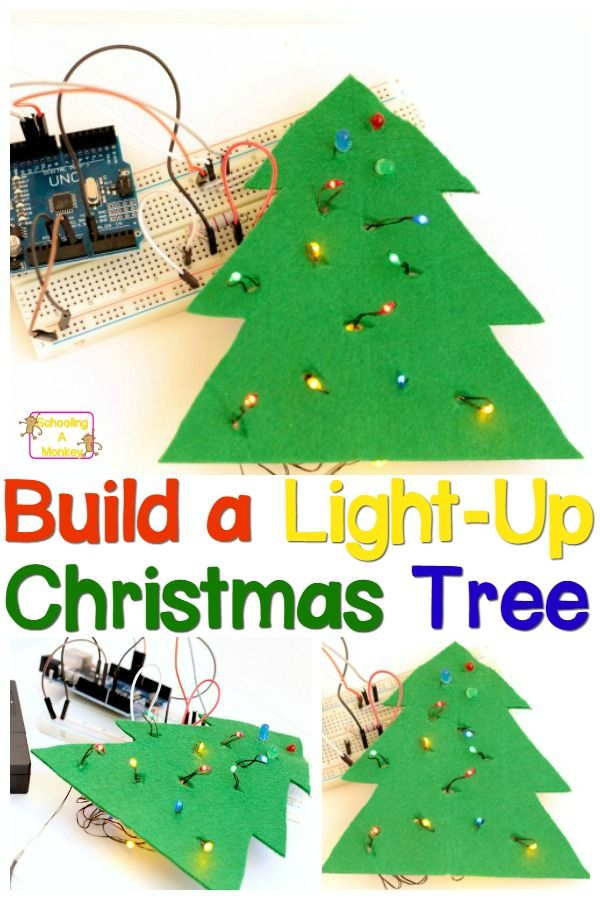 Engineering For Kids Light Up Christmas Tree Project Christmas Science Christmas Stem Christmas Science Experiments