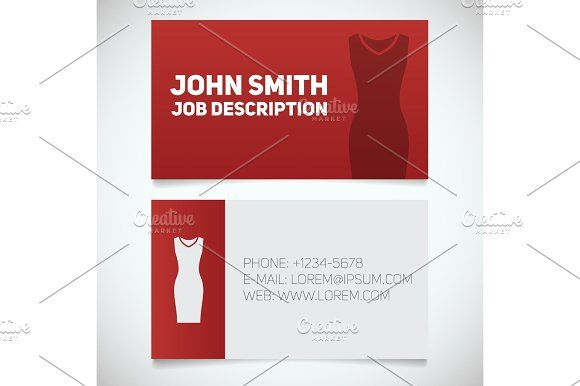Business card print template with evening dress logo print business card print template with evening dress logo fbccfo Image collections