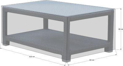Grasekamp Schutzhülle 120x80cm Lanzarote Lounge Tisch Beistelltisch
