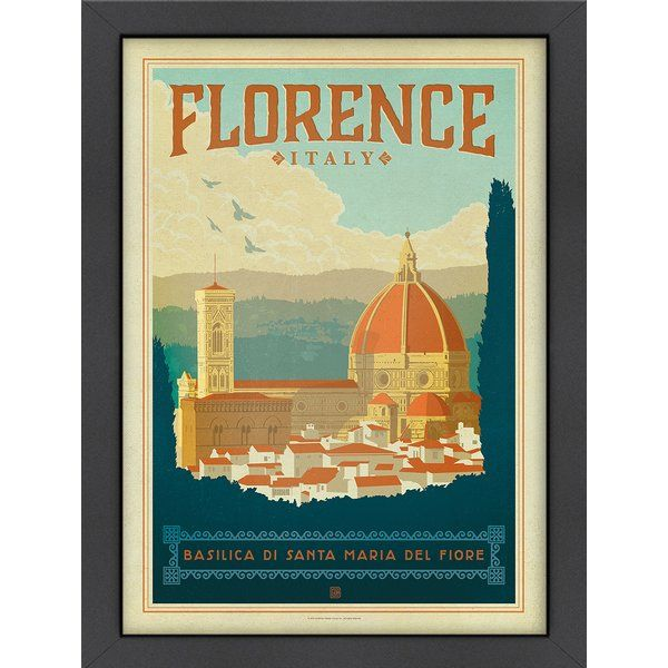 World Travel Florence Italy Framed Vintage Advertisement | Florence ...