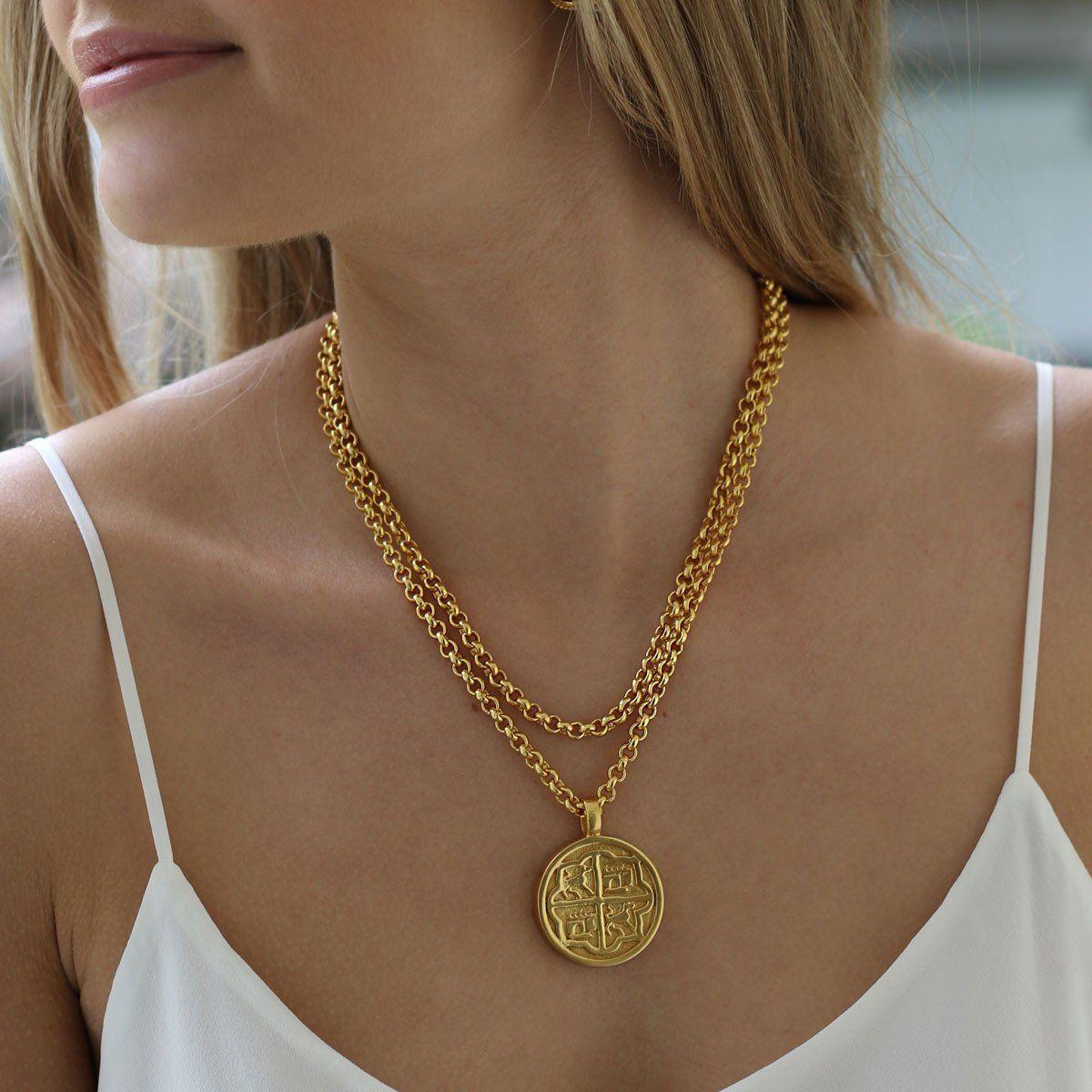 Valencia double sided pendant gemstone jewlery pinterest gold