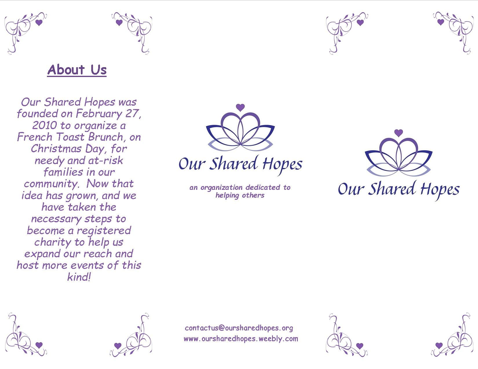 Our new brochure - ouside