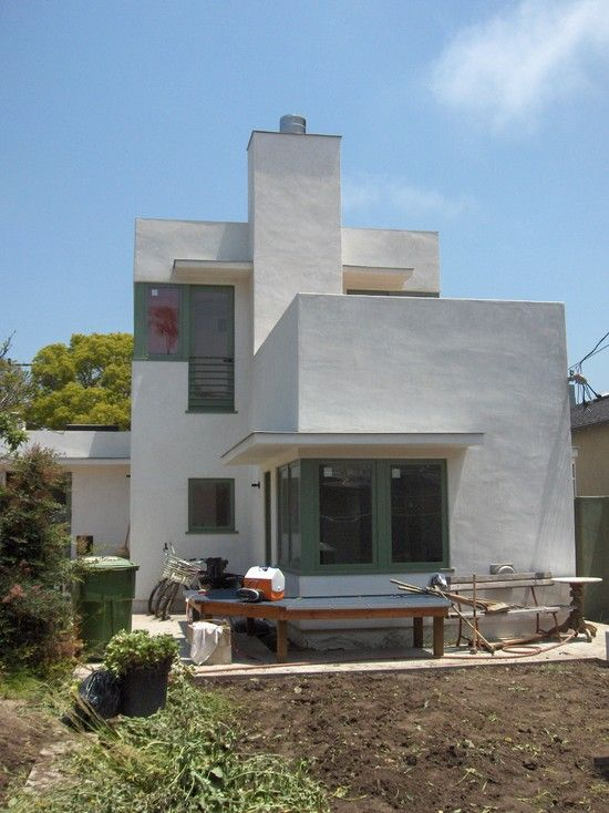 Modern Home Construction a La Traditional Italian House   Powerful Happy  Venice House With Modern White Exterior Wall Decor Made From Concre Modern Home Construction a La Traditional Italian House   Powerful  . Modern Home Exterior Materials. Home Design Ideas