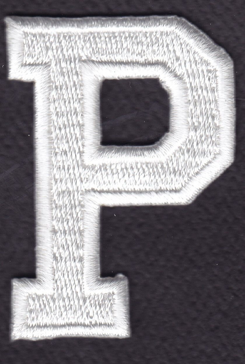 """BLACK BLOCK LETTER /""""V/"""" 1 7//8/"""" - Iron On Embroidered Applique Patch LETTERS"""