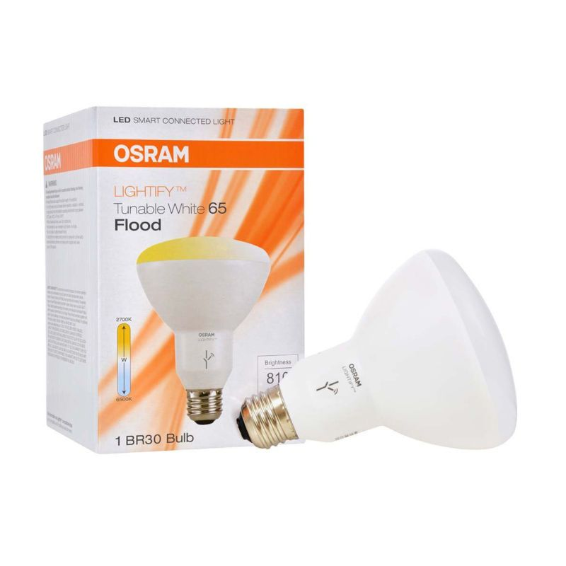 Sylvania Osram Lightify Smart Home 65w Br30 Tunable Warm White Led Flood Light New Free Shipping Works With Led Light Bulb Connected Light Led Flood Lights