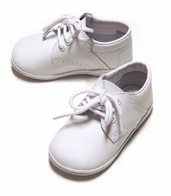 L'Amour Angel Baby Boys White Leather Dress Oxfords Shoes ...