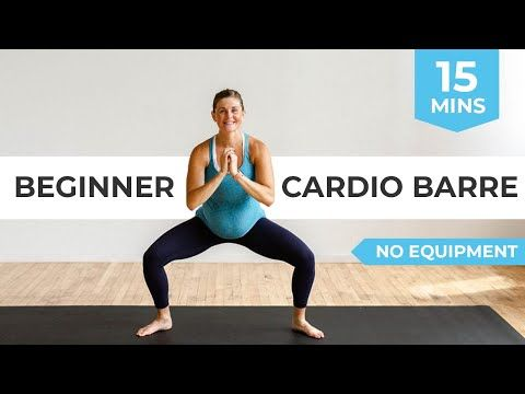 15-Minute Home Low Impact CARDIO Barre Workout | Advanced Pregnancy Workout + No Jumping Workout