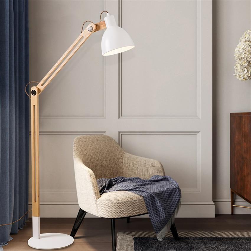 Japanese Solid Wood Led Led Floor Lamps Modern Living Room Room