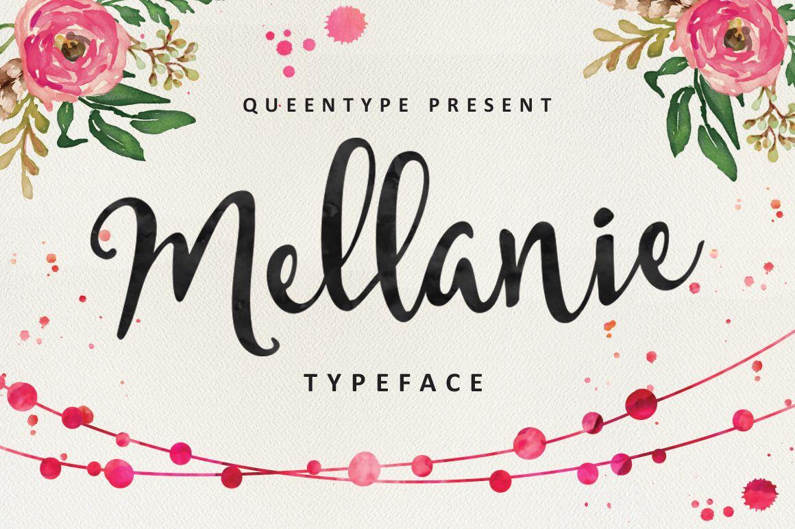 📷 Mellanie Script ★ Free font of the week