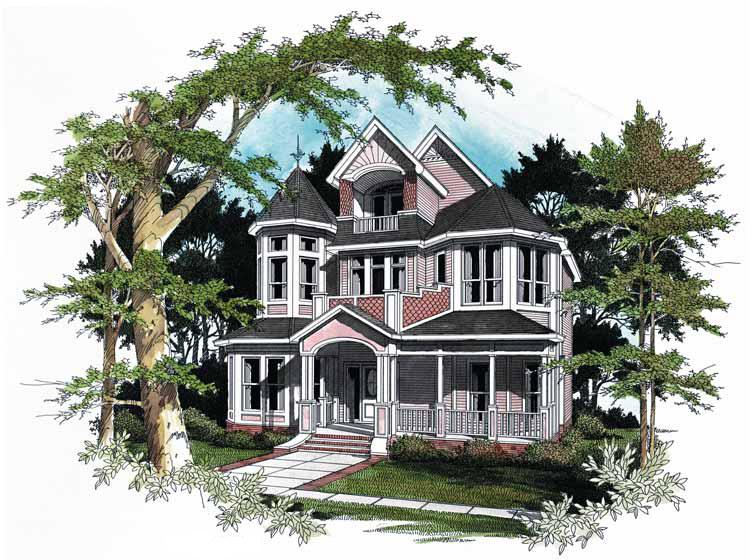 Plan 5451lk Stunning Victorian Victorian House Plans Victorian Homes Queen Anne House