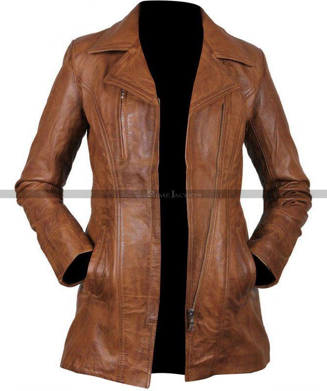 New Ladies Womens Real Leather Brown Slim Fit Soft Zip Biker Style Jacket