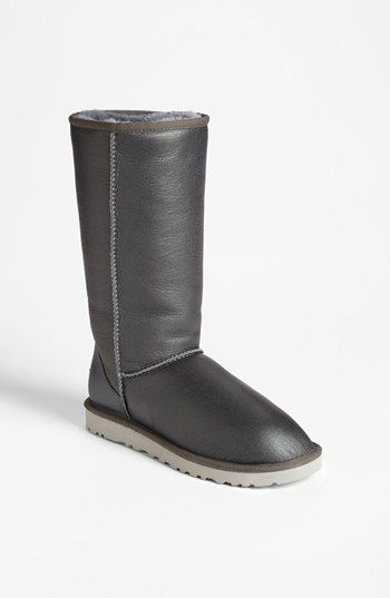 UGG® Australia 'Classic Tall Metallic' Boot (Women) available at #Nordstrom. Love the metallic pewter!