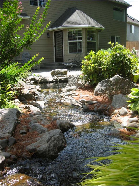 Landscaping Ideas Ohio : I would love to have a creek or babbling brook in the