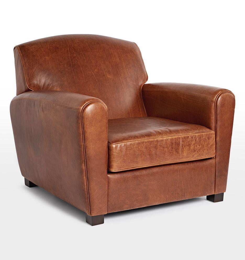 Doyle Leather Club Chair Club Chairs Leather Club