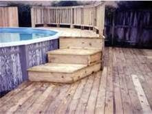 Treated Pine Deck For Above Ground Swimming Pool Above Ground Swimming Pools Above Ground Pool Decks Pool Patio