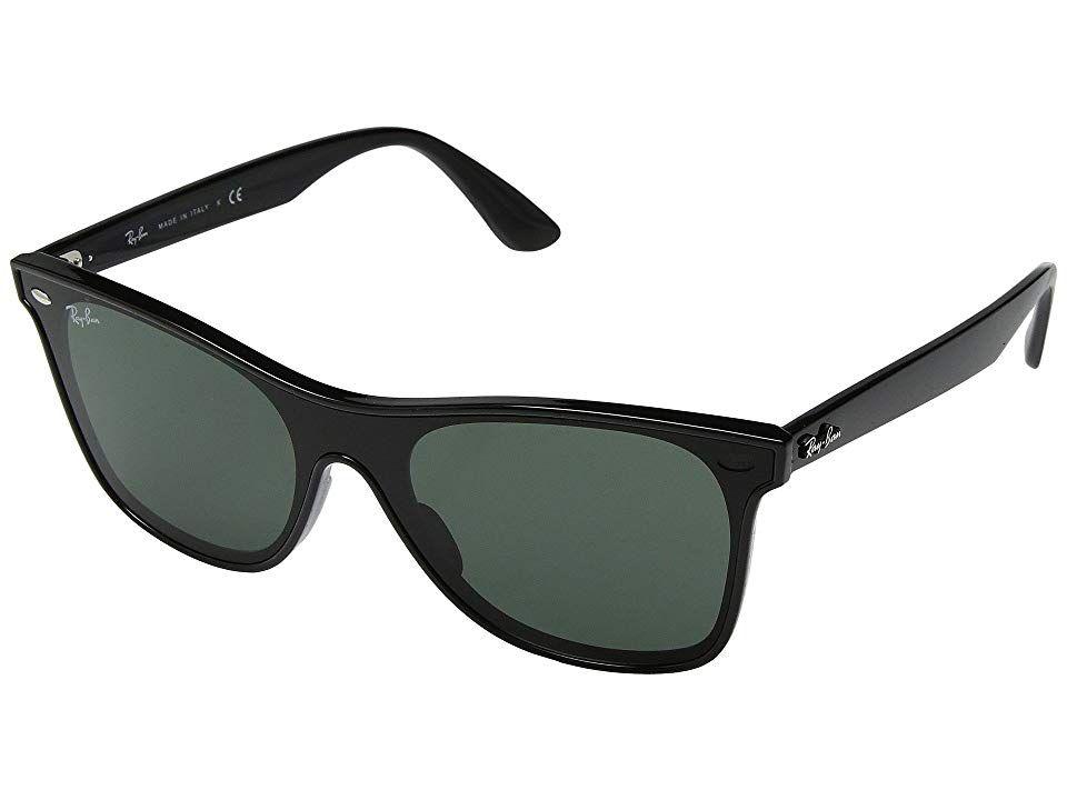 01839d27bd0 Ray-Ban 0RB4440N Wayfarer 41mm (Black Green) Fashion Sunglasses. The easy