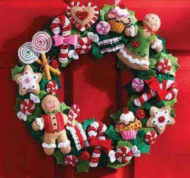 Pa o lency navidad buscar con google adornos navide os - Coronas navidenas de fieltro ...