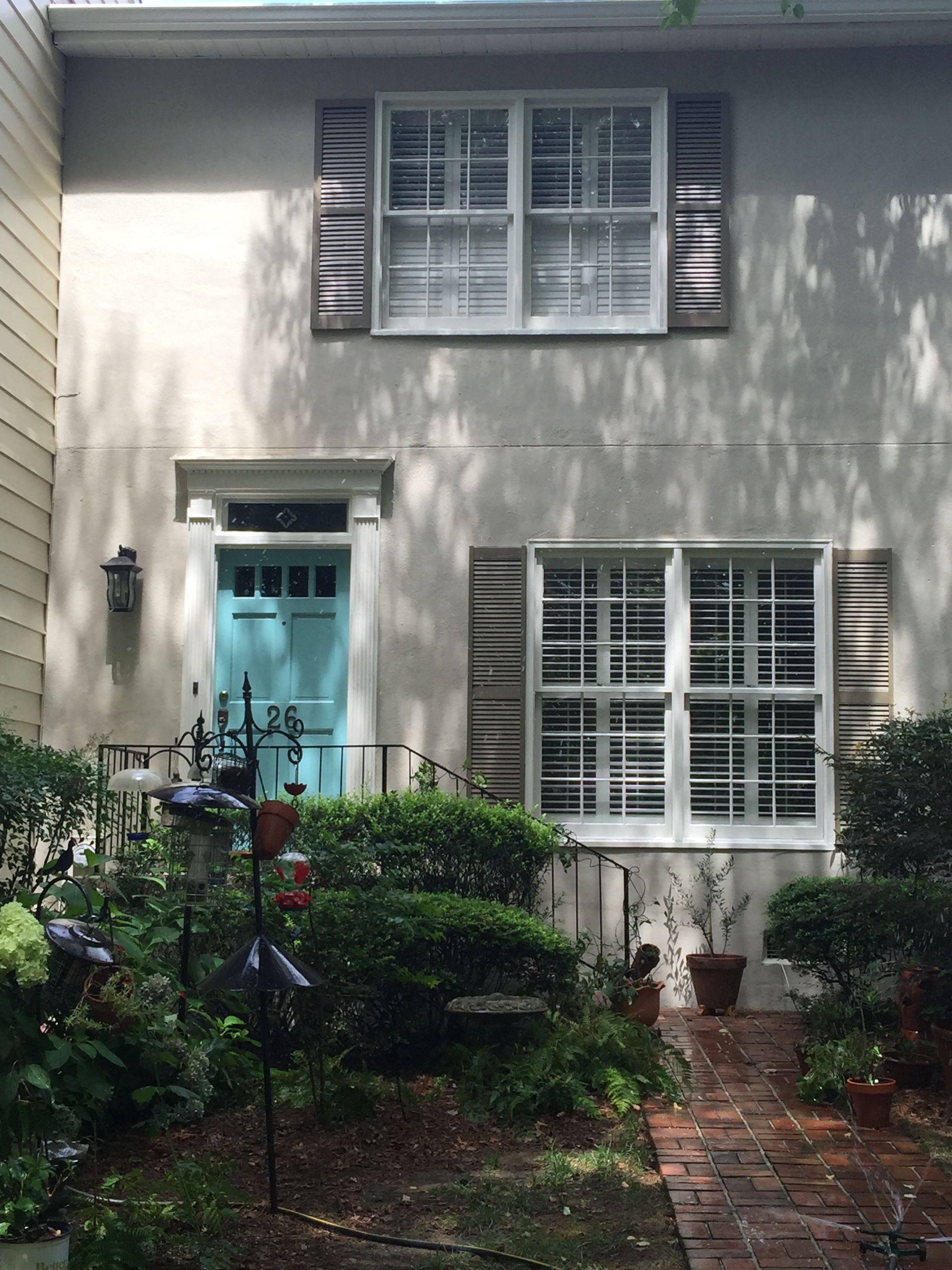 Final Paint Colors Bm Grant Beige Stucco Bm White Dove Trim Bm Texas Leather Shutte Exterior Paint Colors For House House Paint Exterior Stucco Colors