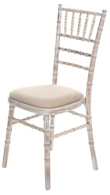 Lime Wash Wooden Tiffany Chair