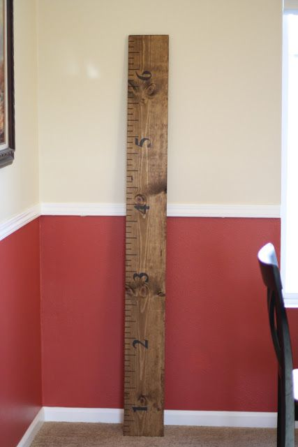 Good Times With The Goodmans Giant Ruler Growth Chart Tutorial