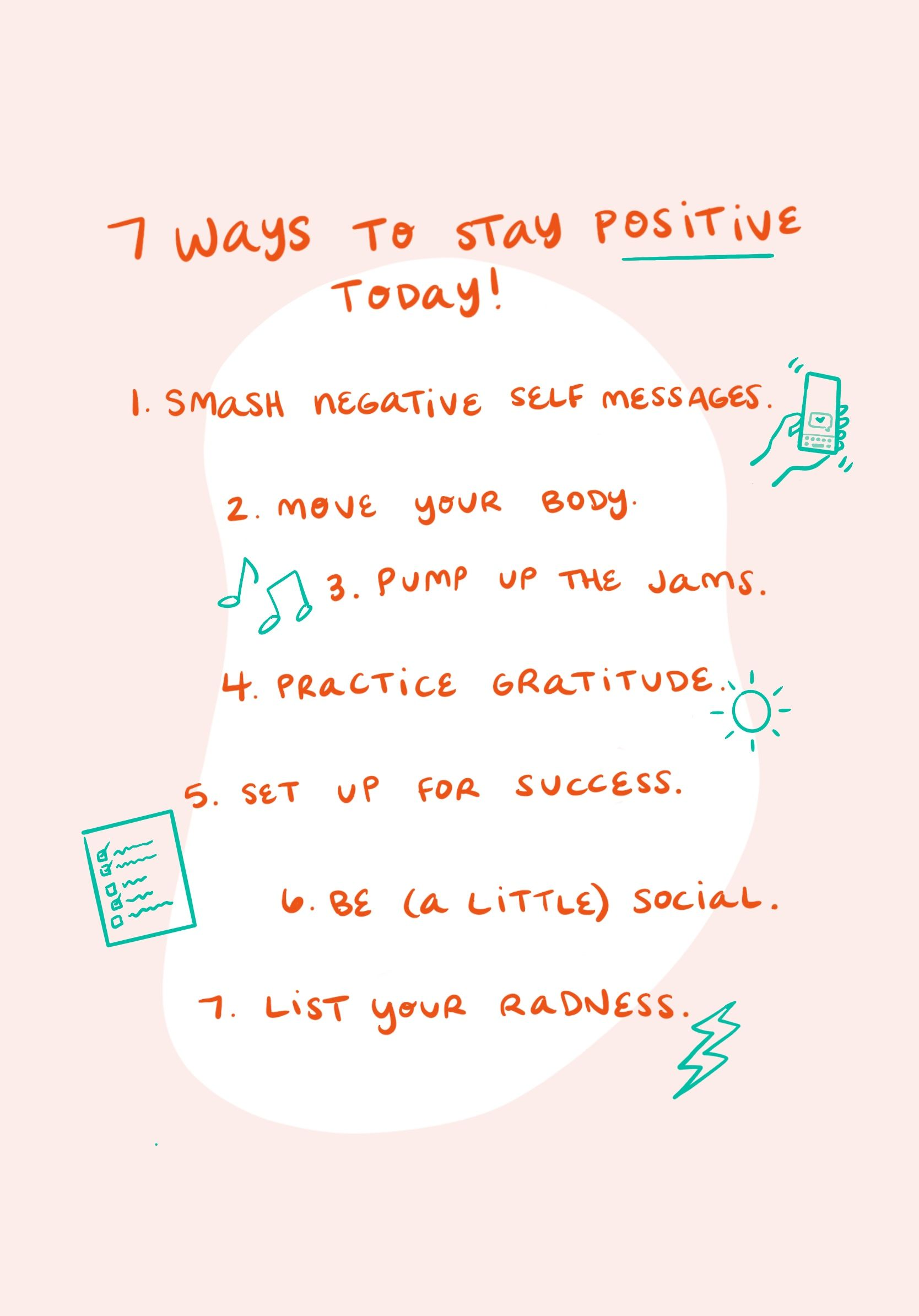 How to Stay Positive 7 Things You Can Do Today » Lovely
