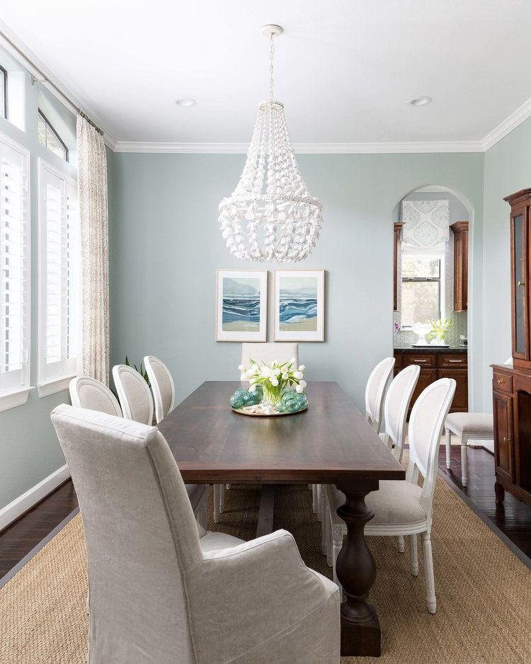 BEFORE AND AFTER - A Coastal Style Dining Room And Foyer ...
