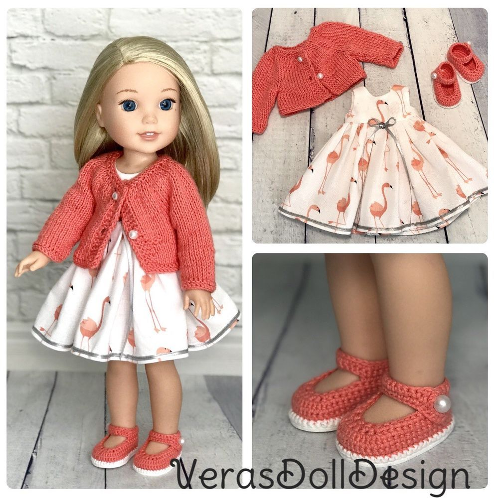 10 White Doll Clothes Hangers for Wellie Wisher Dolls