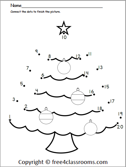 Printable Christmas Dot To Dot Coloring Pages Images