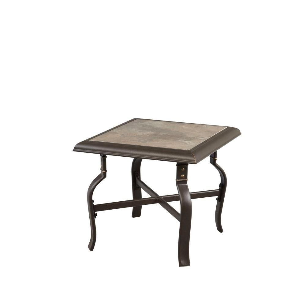 Hampton Bay Belleville Patio Side Table Patio Dining Table