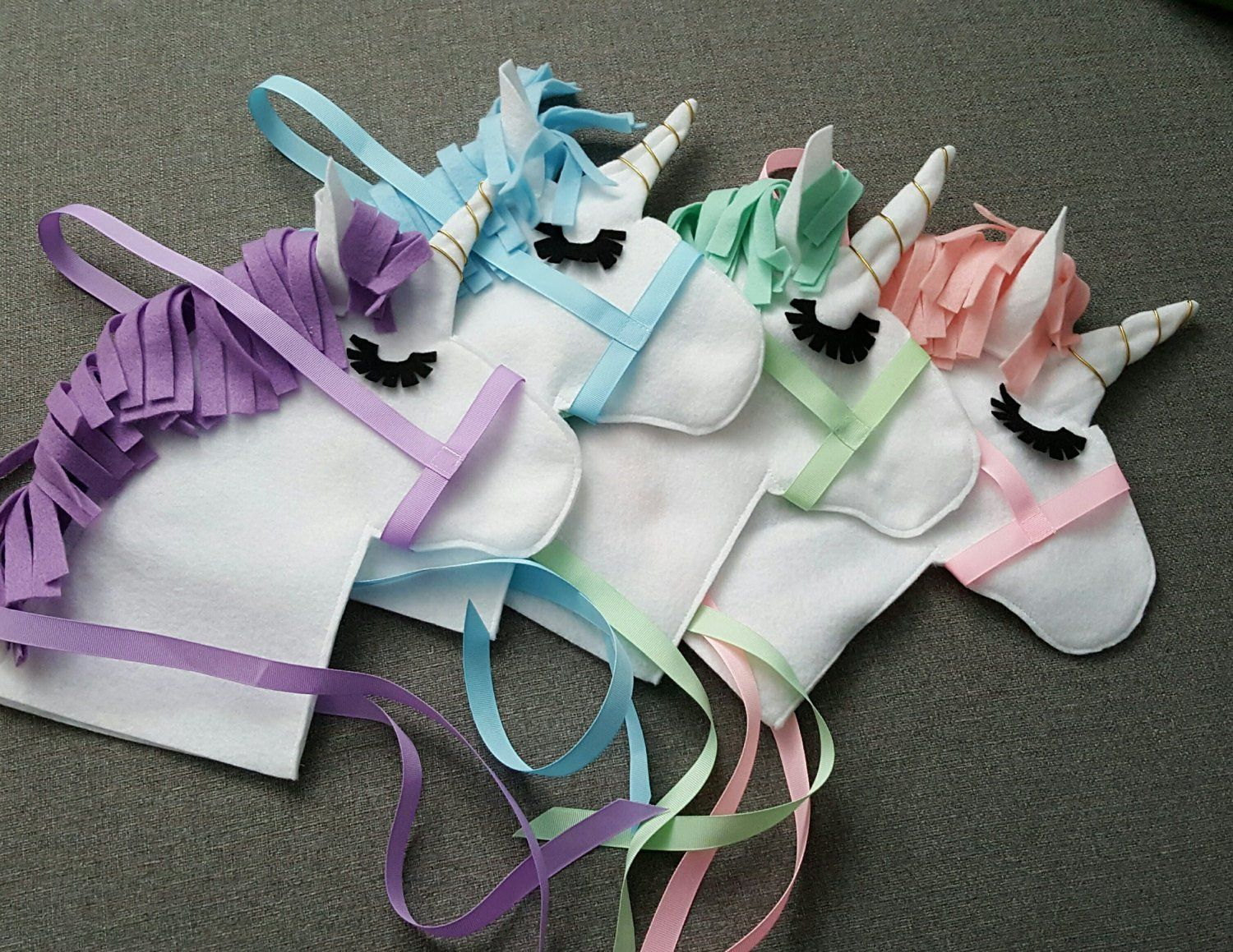 Unicorn Party Favor Diy Stick Horse Unicorn Head Only