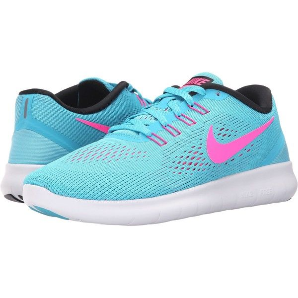 ($80) ❤ liked on Polyvore featuring shoes, athletic shoes, blue, running  shoes, black lace up shoes, lace up shoes, flexible running shoes and ...