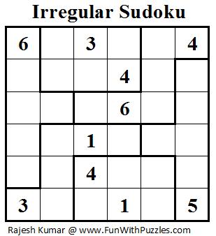 photo regarding Irregular Sudoku Printable titled Abnormal Sudoku (Mini Sudoku Collection #19) Printable