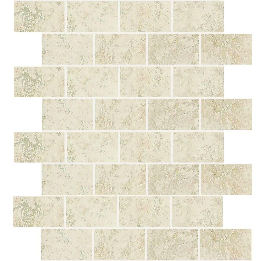 Daltile Briton Bone 12 in. x 12 in. x 8 mm Ceramic Mosaic Tile ...