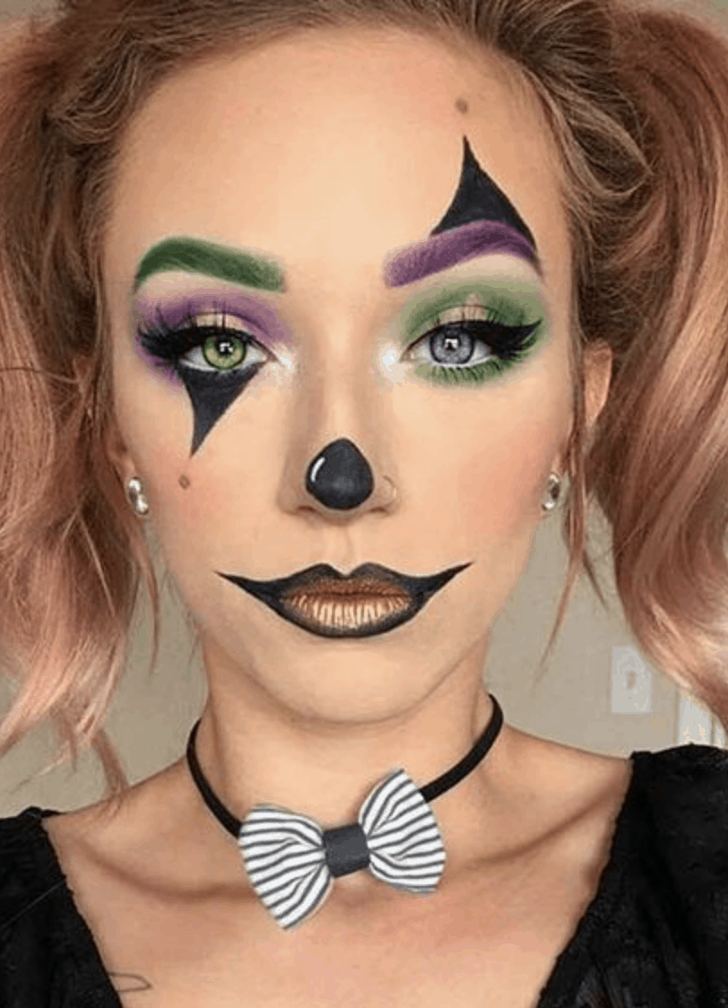 13 Easy Halloween Makeup Ideas To Try An Unblurred Lady In 2020 Cute Halloween Makeup Halloween Makeup Clown Cool Halloween Makeup