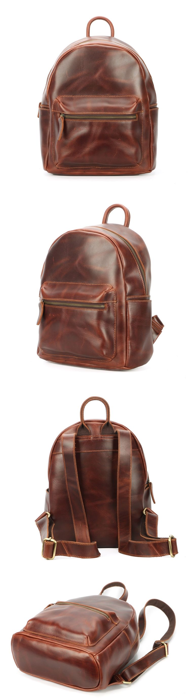 100 genuine cow leather fashion unique cute backpacks for