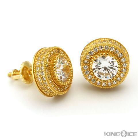14k Gold On Cz Earrings Kingice