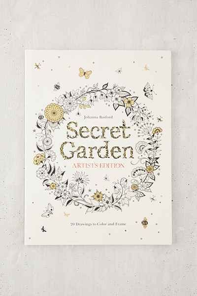 Secret Garden Artists Addition 20 Drawings To Color And Frame By Johanna Basford Coloring BookUrbanoutfitters