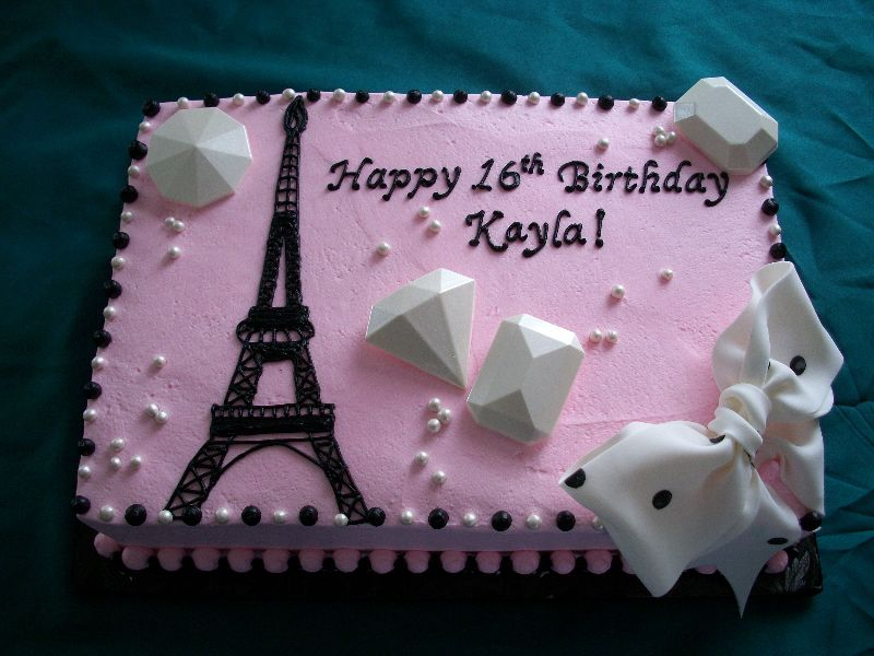 Eiffel Tower Cakes For Kids Themed 1st Birthday Party