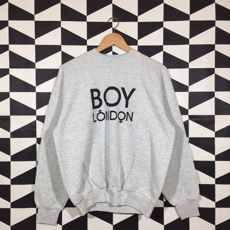 90s Boys Excited To Share This Item From My Etsy Shop Vintage 90s Boy London Spellout Printed Sweatshirt Crewneck In 2020 Boy London Sweatshirts Printed Sweatshirts