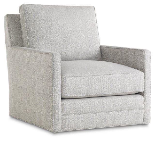 Waverly Swivel Chair, Pewter Gray | Family room | Pinterest